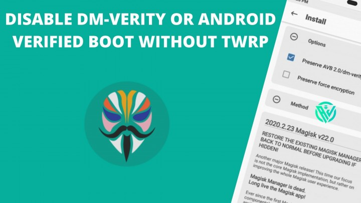 Disable DM-Verity Android Verified Boot AVB without TWRP